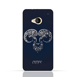 HTC ONE M7 TPU Silicone Case with Zodiac-Sign-Aries Design