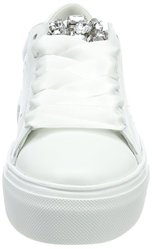 Schmenger Baskets Big und Weiß Weiß Crystal Sohle Femme Bianco Kennel RqfAnxvwp