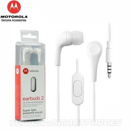 Motorola M13MOEARBUD2B Audífonos 3.5 con Micrófono Earbuds 2, Color Blanco