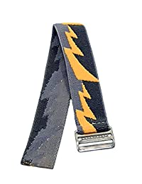 Timex Youth & Adults | Elastic Watch Strap 18mm | Yellow Bolt Design Fits Timex Watches & More
