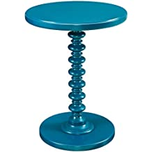 Powell Furniture Round Spindle Table, Teal