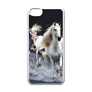 Diy Running Horse Custom Cover Phone Case for iphone 4 4s White Shell Phone fashion case [Pattern-5]