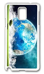 MOKSHOP Adorable Earth Landscape Art Hard Case Protective Shell Cell Phone Cover For Samsung Galaxy Note 4 - PC White