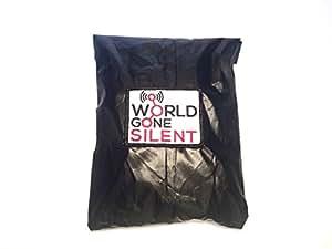 World Gone Silent Black and Nickel EMP Shielding Bag