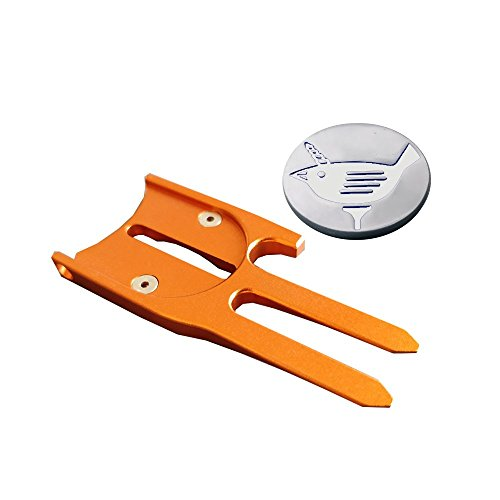 Birdicorn Divot Tool (Orange w/Ball Marker)