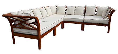 CHIC TEAK Long Island Sectional, 5 Pieces Made (Island Sectional)