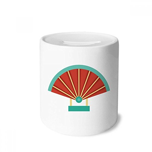 DIYthinker Fan China Pattern Money Box Saving Banks Ceramic