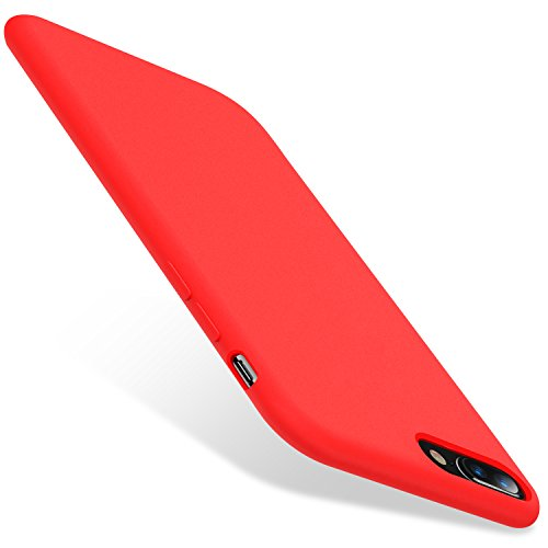 TORRAS Love Series iPhone 8 Plus Case/iPhone 7 Plus Case, Liquid Silicone Gel Rubber Case with Soft Microfiber Cloth Lining Cushion Compatible with iPhone 8 Plus/iPhone 7 Plus, Red