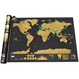 Luckies of London LUKSD Scratch Map Carte du monde à gratter Edition luxe Noir