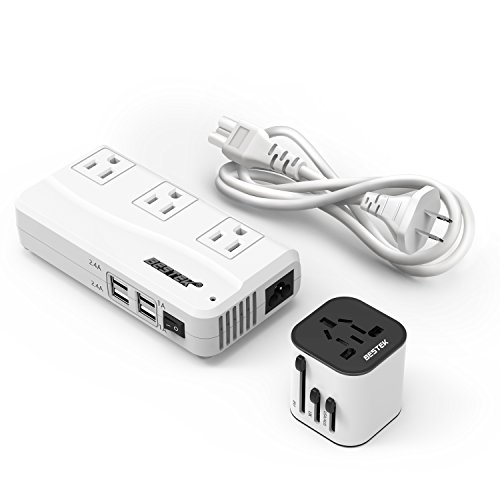 BESTEK Travel Adapter and Converter Combo, 220v to 110v Voltage Converter with...