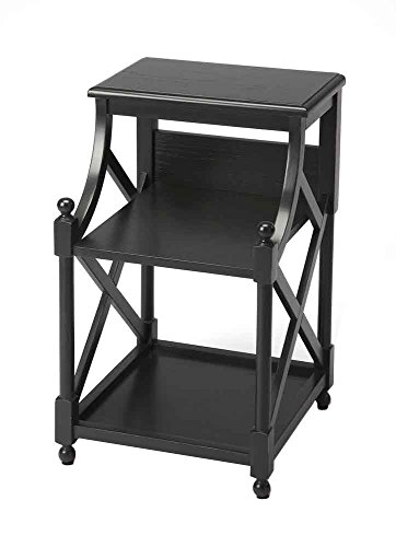(Offex Living Room 2 Tier Book Table - Black )