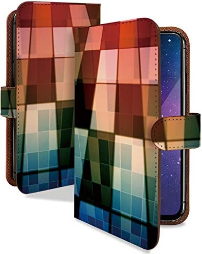 ZenFone Max Plus (M1) ケース 手帳型 ステンドグラス 赤 綺麗 きれい スマホケース ゼンフォンマックス