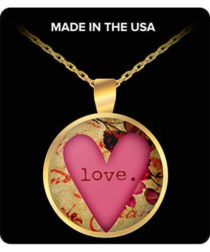 Social Karma Marketing Valentines Day Love/Heart Necklace - Valentines Gift, Gold or Silver Pendant
