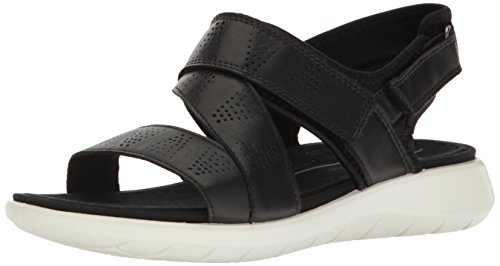 discount perfect ECCO Women's Women's Soft 5 Cross Strap Sandal Black/Black buy cheap shopping online 100% authentic for sale vkDSHnTr5u