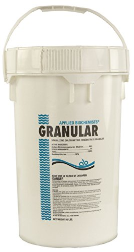 Applied Biochemists 50-Pound Bucket of Stabilizing Chlorinating Concentrate Granular | 56% Available Chlorine | 99% Sodium DiChlor
