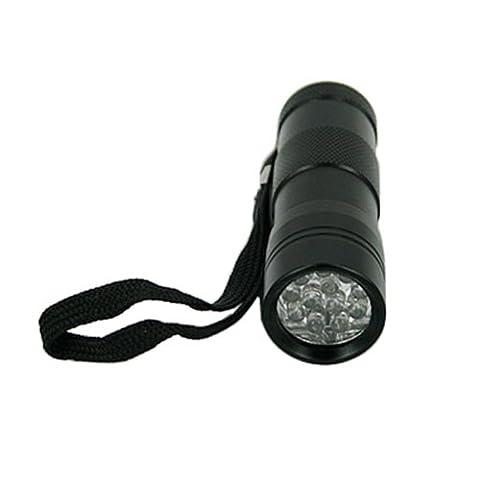 HDE 12 LED Blacklight Flashlight UV Ultra Violet Leak and Stain Detection - Long Wave Uv Lamp