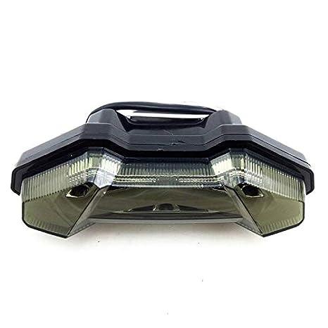 Amyove Luce Posteriore LED Luce di Stop Fanale Posteriore Indicatore di Direzione per YAMAHA MT-09 FZ09 13-17 Colore Trasparente