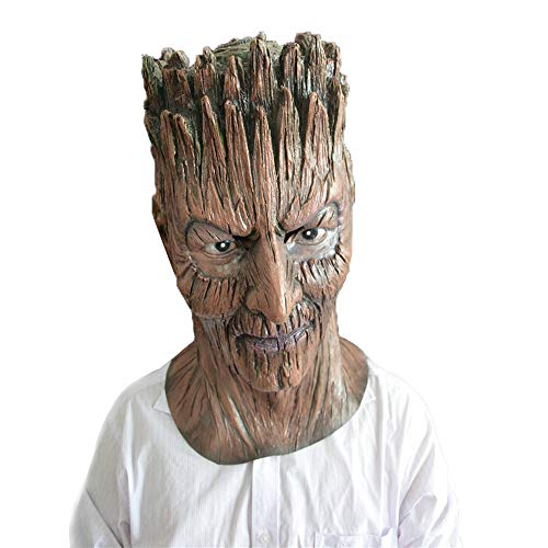 Havitar a Variety of Creepy Scary Halloween Cosplay Costume Masks Adult Party Decoration Props (Halloween Scary Tree Demon mask)]()