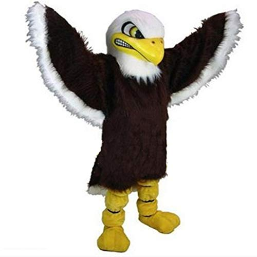 UBCM Bald Eagle Fierce Brown Eagle Mascot Costume Fancy Party Dress Carnival Outfit]()