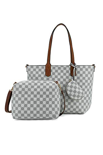 Designer Heart Bag - Leather Handbags 2pcs Set for Women Fashion Purse Shouler Totes Bags (WWHH)