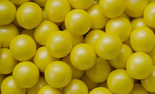 Mini Glimmer Gumballs 0.5 Inch (Yellow, 2 Pounds)