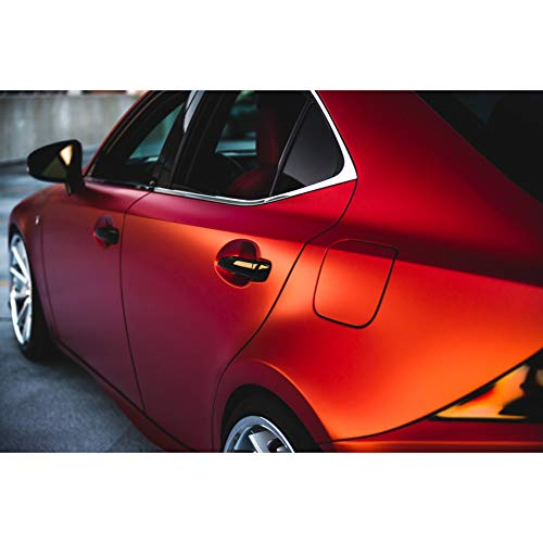 3M 1080 Satin Vampire Red | SP273 | Vinyl CAR WRAP Film (5ft x 1ft (5 Sq/ft)) w/Free-Style-It Pro-Wrapping Glove -