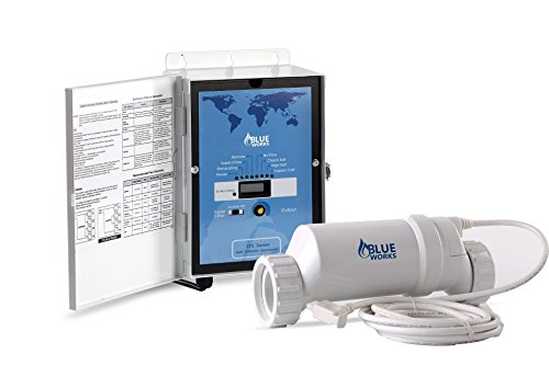 - Blue Works Pool Chlorine Generator Chlorinator BLH30 | for 25k Gallon Pool | with Flow Switch and Salt Cell | 5 Year Limited Warranty (White)