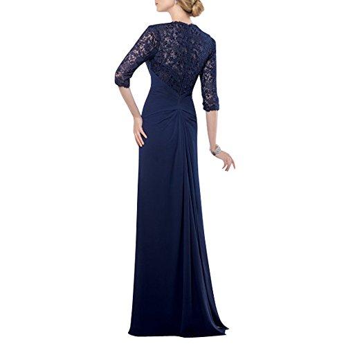 4 Langarm mia Festlichkleider Brautmutterkleider Abendkleider Partykleider Glamour Chiffon Brau Langes Dunkel Tuerkis mit La Ballkleider 3 Hw7F4xF