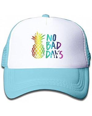 No Bad Days Pineapple Youth Toddler Mesh Hats Kid Baseball Trucker Cap