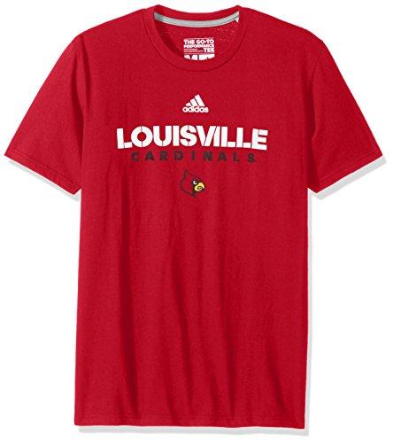 NCAA Louisville Cardinals Men's Sideline 2017 Go-to Performance Short Sleeve Tee, Medium, Power Red