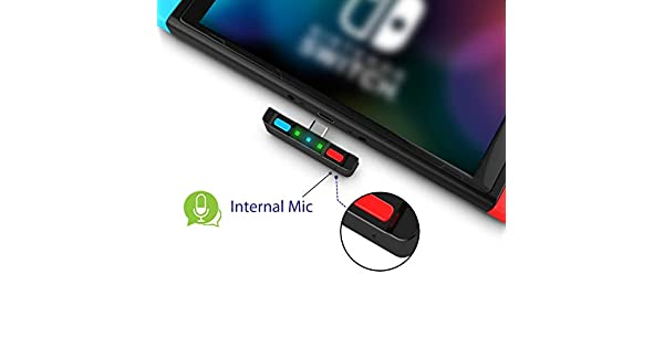 HomeSpot Bluetooth 5 0 Audio Transmitter Adapter with USB C Connector  Built-in Digital Mic aptX Low Latency for Nintendo Switch Accessories  Compatible