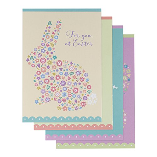 DaySpring Easter Boxed Greeting Cards w Embossed Envelopes - Flowers, 12 Count (43356)