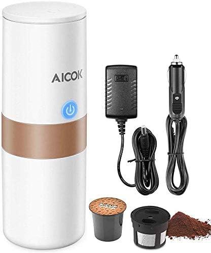 Aicok - Máquina de café portátil mini, cafetera eléctrica para ...