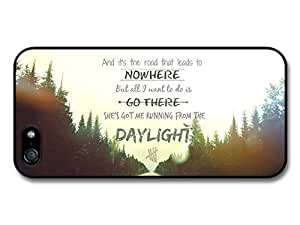 AMAF ? Accessories 5 Seconds Of Summer Luke Hemmings Daylight Lyrics Road case for iPhone 5 5S