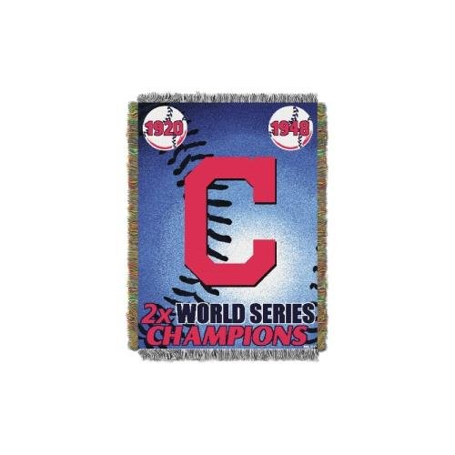 MLB Cleveland Indians Commemorative Woven Tapestry Throw, 48