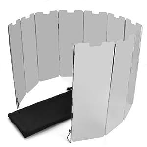 SODIAL(R) 10 placas Fold camping Cocina Cocina de gas Escudo del viento de la pantalla plegable al aire libre