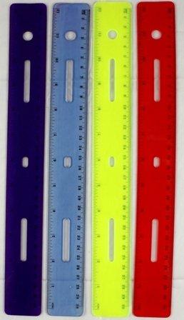 Flexible 12'' Plastic Ruler - Asstd Colors 288 pcs sku# 1193013MA