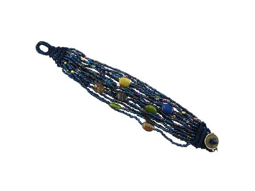 - Zeckos Multi Strand Seed Bead Bracelet Hand Painted Accents
