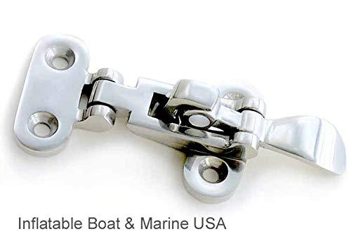 "Boat Latch - Anti-Rattle Fastener Clamp - Locker Hatch - 4 3/8"" Marine 316 Stainless Steel"