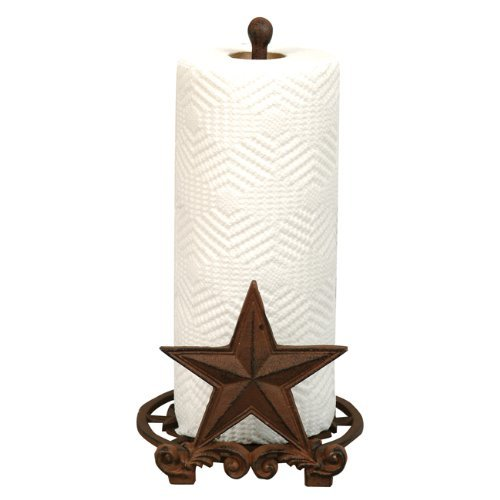 Cast Iron Star Rustic Paper Towel Holder - Western Kitchen Decor