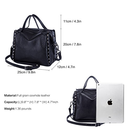 Black Bag Crossbody Ladies Handbag for Leather Satchel Women Tote Handle Top Purse Shoulder Grey BOYATU Bag 1qRpZw