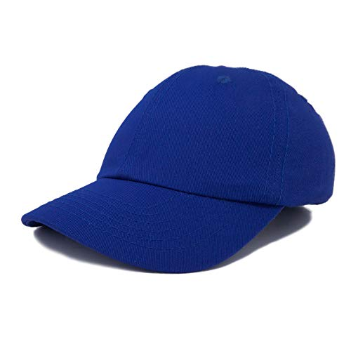 Dalix Unisex Unstructured Cotton Cap Adjustable Plain Hat, Royal Blue -