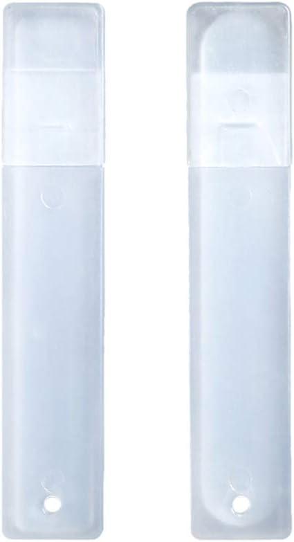 Lurrose 2 piezas de limas de vidrio para uñas cristal transparente esmaltes de uñas cortos tampones profesionales para uñas con estuche para uñas naturales: Amazon.es: Belleza