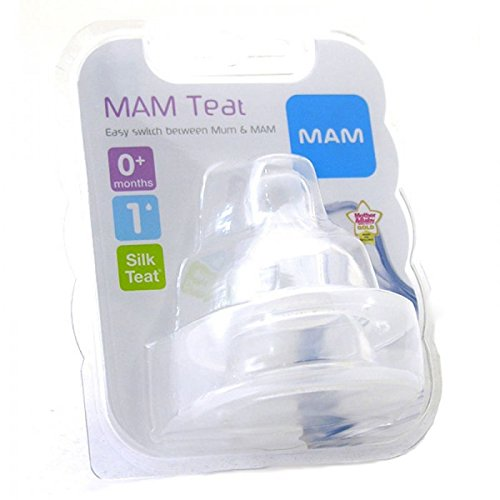 MAM Silicone Slow Flow bottle teats 2 in a pack Age 0m Bpa free slow flow