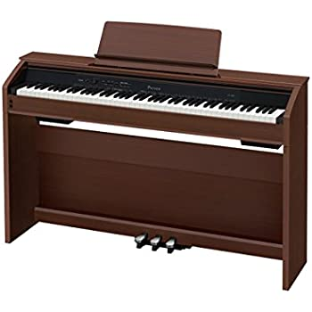 Casio PX-860 Privia Digital Home Piano, Brown with Power Supply