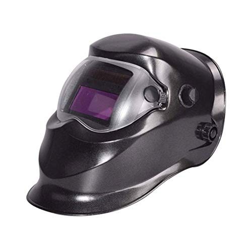 Welding Helmet Solar Powered Gas Mig Tig Arc Welder Auto Darkening Digital Controlled Cutting Helmet Mask Eyes Protection,Black