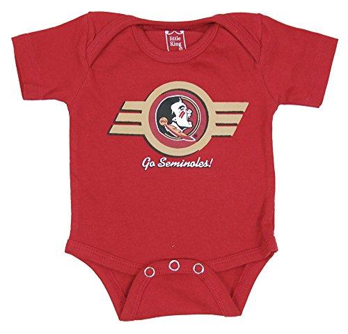 Florida State Onesie - Little King NCAA Florida State Seminoles Diaper Shirt Romper, 6M, Garnet