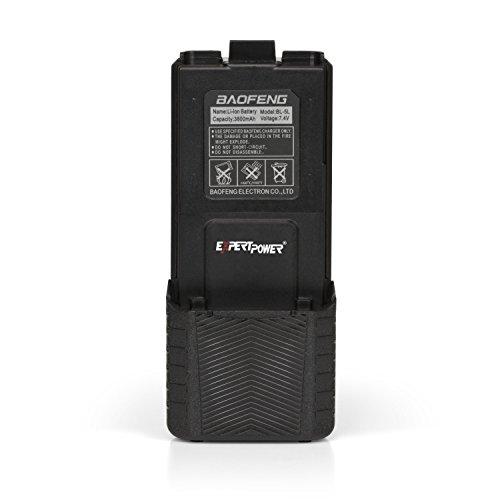 ExpertPower Baofeng UV-5R Extended True Capacity Battery (Model: BL-5L, 3800 mAh, Black)