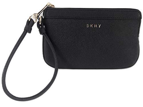 - DKNY Small Bryant Zip Wristlet Black