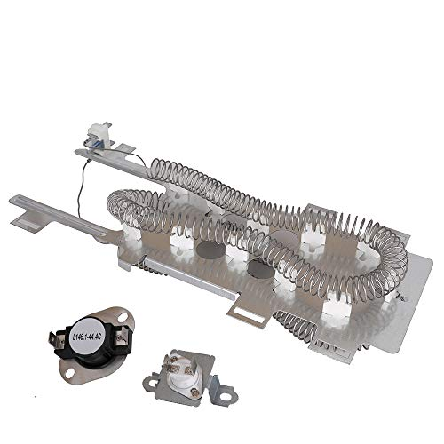 8544771 Dryer Heating Element 279973 Cycling Thermostat&Thermal Fuse Switch Kit for Whirlpool, Kenmore, Roper, Maytag, Estate, Inglis, KitchenAid, Crosley, Amana, Admiral, Magic - Heating Nickel Element